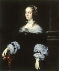1654 Countess Teresa Dudley di Carpegna by Justus Sustermans