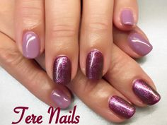 New!! CND Shellac Lilac Eclipse and Berry Boudoir layered with Hypnotic Dreams