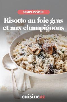 Une version festive du risotto pour les fêtes de fin d'année avec du foie gras et des champignons. #recette#cuisine#riz #risotto#foiegras #champignon #noel#fete#findannee #fetesdefindannee