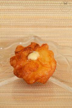 buñuelos-de-crema-thermomix Churros, Pineapple, Fruit, Flan, Recipes, Cake, Bun Hair Piece, Homemade Cookie Recipe, Cake Recipes