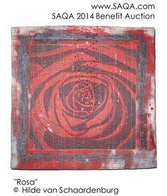 Art quilt by Hilde van Schaardenburg #SAQA #artquilts #GoRedForWomen