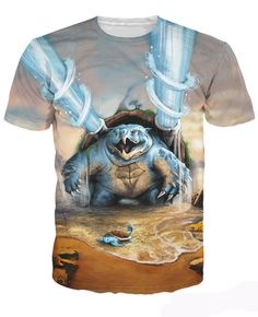 2cb5bf3401c8 New Fashion Summer Style t shirt Women/Men Blastoise T-Shirt water-type  Pokemon collection Short Casual Printed Tops Shirt