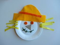 "Fall harvest craft for toddlers | 11 Responses to ""Paper Plate Scarecrow Craft""                                                                                                                                                     More"