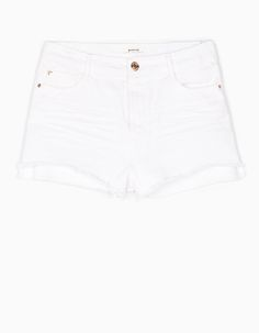 Stradivarius Colombia Short básico sarga - STAY - MUJER |   #MomentoExtraordinario Beyonce, White Shorts, Prada, Outfit, Gallery, Fashion, Funny Women, Innovative Products, Feminine Fashion