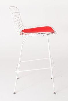 Milano Republic Furniture Pty Ltd - Replica Harry Bertoia Wire Bar stool-powdercoated white with red cushion, $139.00 (http://www.milanorepublicfurniture.com.au/replica-harry-bertoia-wire-bar-stool-powdercoated-white-with-red-cushion/)