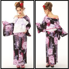 Oiran Yukata Style. Japanese Cotton, Yukata, Summer Wear, Geisha, Kimono Top, Asian, How To Wear, Tops, Women
