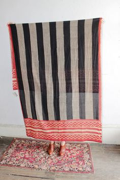 Red, black, and white scarf at Vagabond Botique