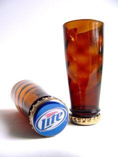 Worlds First Miller Lite Vortex Beer Bottle Shot Glass