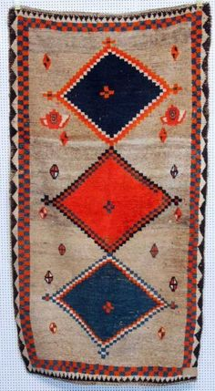 Gabbeh, um 1930, 203 x 107cm, Zustand C