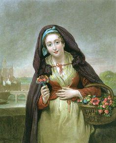 Paul Emile (French artist, 19C) Flower Seller