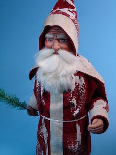 21 inch Paper mache *German Santa* candy container by Paul Turner studio