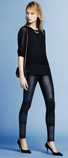 Alixi Patchwork Legging - Charlott Theory Fashion