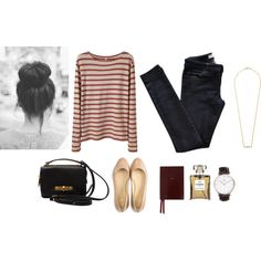 """Breton"" by trenchcoatandcoffee on Polyvore"