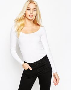 ASOS The Scoop Neck Top With Long Sleeves