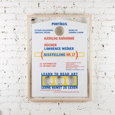 Lawrence Weiner Portikus Exhibition Poster, 1989, Unframed