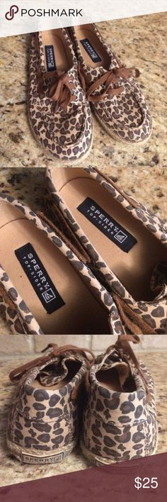 Sperry's Leopard Sperry's. Excellent used condition. Smoke free home. Sperry Shoes