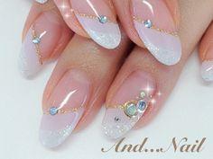 ■2013年夏秋の急遽涼しげパープルWフレンチネイル■ Beautiful Nail Art, Gorgeous Nails, Kawaii Nails, Finger, Get Nails, Nail Decorations, Nail Arts, Spikes, Nail Art Designs