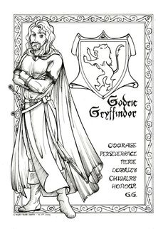 Godric Gryffindor by shyangell oPlease see coloured plate of this.