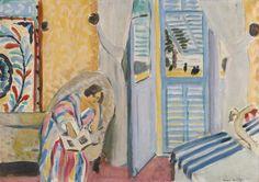 dappledwithshadow:   Henri MatisseINTERIÉUR À NICE, FEMME ASSISE AVEC UN LIVREDimensions: 18.31 X 25.87 in (46.5 X 65.7 cm)Medium: oil on canvasCreation Date: 1919