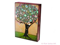 Little White Bird Tree  ACEO Giclee print mounted on by FlorLarios, $8.00