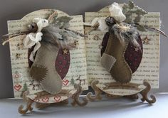 My Card Creations - actually a great ornament-gift-card idea using felt stockings!