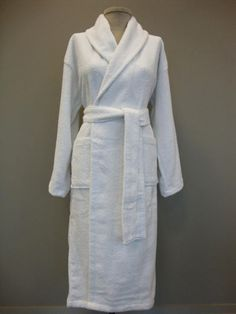 d7c190fc39 Shawl collar terry bathrobe is made of 100% Turkish cotton and has two  patch pockets