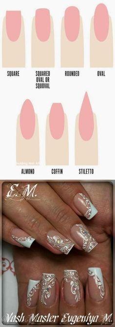 35 Simple Ideas for Wedding Nails Design - Nail Art Natural Wedding Nails, Simple Wedding Nails, Wedding Day Nails, Wedding Manicure, Wedding Nails Design, Simple Nails, Nagel Tattoo, Simple Art Designs, Design Ideas