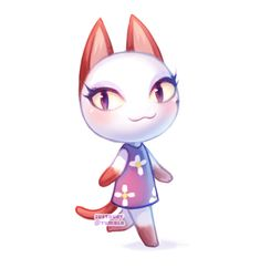 In honor of Oliva, who left my GameCube Animal Crossing, and is leaving my Wii Animal Crossing game as well. Animal Crossing Fan Art, Animal Crossing Villagers, Ac New Leaf, City Folk, Cute Games, Kawaii, Game Art, Pokemon, Character Design