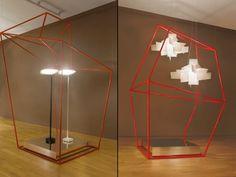 Cages installation by Ferruccio Laviani for Foscarini, New York City