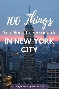 100 Things You Need to See and Do in New York City + Download a FREE 100 Things to do in New York City Checklist! #NYC #Travel #NewYorkCity #sightseeing