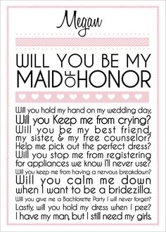 Bridesmaid Card. $8.00, via Etsy.