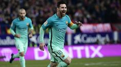 The Argentine star was on target as Barcelona beat Atletico Madrid 2-1 in the first leg of the Copa del
