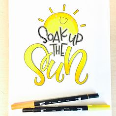 It's pouring here- hope you're able to soak up the sun where you are! #sunshineletters @tjt.design @tiffyinspirations @chrystalizabeth #lettering #handlettering #handlettered #typematters #brushscript #brushpen #brushtype #brushcalligraphy #moderncalligraphy #dailycalligraphy #handtype #tombow #tombowusa #tombowdualbrushpens #calligritype #welovetype #letterlove #letteringlove #iloveletters #typespire #handtype #scriptlettering #soakupthesun