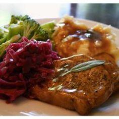 #recipe #food #cooking Sage Pork Chops