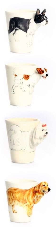 3-D Doggie Mugs