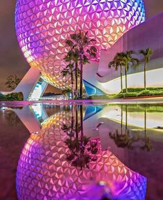 Spaceship Earth reflected in puddles at night. Disney Day, Disney Trips, Disney Love, Disney Magic, Disney Theme, Disney Cruise, Disney Stuff, Disney World Florida, Disney World Parks