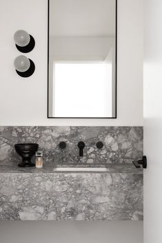 A Narrow Home in Australia Inspired by Belgian + French Contemporary Architecture - Design Milk Richly textured and carefully curated, the KBS Residence by Nickolas Gurtler Interior Design features clean lines and a custom feel. Bad Inspiration, Decoration Inspiration, Bathroom Inspiration, Decor Ideas, Bathroom Trends, Modern Bathroom, Small Bathroom, Bathroom Ideas, Colorful Bathroom