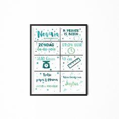 Geboorteposter ● Buy it at Troetel.com