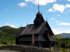 EIDSBORG STAVCHURCH, TOKKE, NORWAY. FROM THE MIDDLE OF 1200. THE FIRST CHRISTIANS AFTER THE VIKINGS BUILD IT.