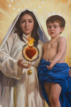 The Immaculate Heart of Mary Divine Mother, Blessed Mother Mary, Blessed Virgin Mary, Catholic Art, Religious Art, Hail Holy Queen, Images Of Mary, Mama Mary, Queen Of Heaven