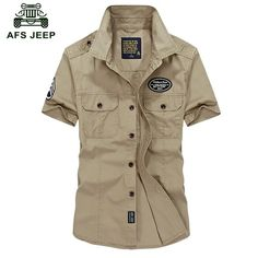 Cheap brand dress shirt, Buy Quality dress shirt directly from China dress shirt brand Suppliers: Military Style Mens Shirts Homme Casual Camisas Para Hombre Summer Brand Dress Shirt With Short Sleeves Tapoo Cotton Male Cloth Cargo Shirts, Jeep Shirts, Casual Shirts For Men, Men Casual, Italian Mens Fashion, Military Fashion, Military Style, Short Sleeves, Short Sleeve Dresses