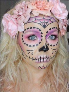 50 Halloween Best Calaveras Makeup Sugar Skull Ideas for Women (6)
