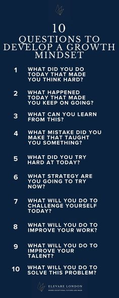 A growth mindset is an essential tool for a resilient, successful child. Teach them how to develop one wit these leading questions, to be answered in a family activity, a journal, or any other way your children like to express themselves! Self Development, Personal Development, Personality Development Activities, Coaching Personal, Personal Trainer, Mental Training, Brain Training, Critical Thinking, Self Improvement