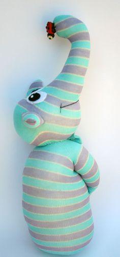 Luigi The Gentle Elephant Sock Doll by AresCrea on Etsy