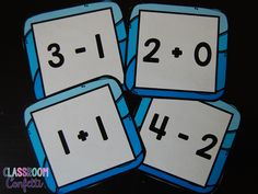 Classroom Confetti: Math Tip Monday--Number Sense. Fishing for Numbers, number representation activity. addition and subtraction