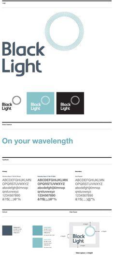 Black Light brand identity