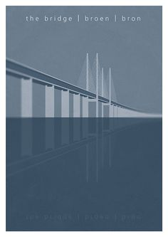 •10% DISCOUNT PIN10 •poster of the TV series The Bridge (original Danish/Swedish version) Bron. Broen.