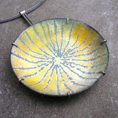 Enamel Necklace - Materials: enamel on copper, sterling silver, sterling, silver, 925 silver $495.00