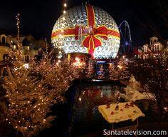El parque Europa en Rust,Alemania durante la navidad