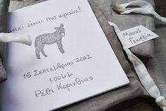 Handwritten baptism invitation booklet with grey linen cover How To Make Drawing, Boy Baptism, Baptism Invitations, Invitation Design, Handwriting, Booklet, Initials, Sketches, Symbols
